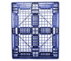 40 x 48 Stackable Fire Retardant Plastic Pallet - Blue - Polymer Solutions ProGenic-LD OWS PP-O-40-S4FM-Blue Standing Bottom HeadOn