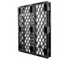 40 x 48 Stackable Ex-Pal 4 Plastic Pallet - Unassembled - Cabka CPP 103 ACM OWS PP-O-40-RL4 Standing 3-4