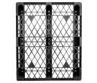 40 x 48 Stackable Ex-Pal 4 Plastic Pallet - Unassembled - Cabka CPP 103 ACM OWS PP-O-40-RL4 Standing Top