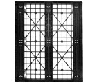 40 x 48 Stackable Light Duty Plastic Pallet 3 Runner Unassembled OWS PP-O-40-SL7 Standing Bottom Head On