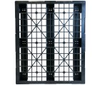 40 x 48 Stackable Light Duty Plastic Pallet 3 Runner Unassembled OWS PP-O-40-SL7  Standing Head On