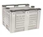 40 x 48 x 31 Vented Container Bin OWS CP-O-40-F Decade D48PGY02BK - Repose Bottom View