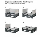 40 x 48 x 34 Collapsible Solid Wall Container Bin - Decade  OWS CP-S-40-DFC Wall Folding