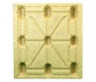 42 x 48 Molded Wood Pallet - Heavy Duty - Litco Inca IE124842 OWS PW-S-4248-NH Standing Top HeadOn