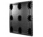 42 x 48 Nestable Solid Deck Distribution Plastic Pallet - Trienda DC4-4248 OWS PP-S-42-NT3 Standing 3-4