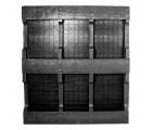 42 x 50 Rackable Plastic Pallet - PPC ppc4250-3 OWS PP-S-4250-RC Standing Bottom HeadOn