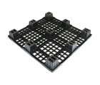 43.3 x 43.3 Nestable Plastic Pallet w/ Safety Lip - Medium Duty - Black - OWS PP-O-4343-NM9 Plasgad PG1111-7 - Repose Bottom