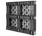 44 x 48 Rackable Stackable Plastic Pallet - Greystone GS.44.48.000 OWS PP-O-4448-R Standing Bottom 3-4