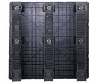 45 x 45 Stackable Solid Deck Plastic Pallet w/ 3 Runners - Assembled - Black - OWS PP-S-4545-SG.3R CTC 4545-CTC-C-45R-SW - Standing Bottom HeadOn