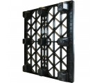 45 x 48 Nestable Heavy Duty Plastic Pallet w Safety Lip OWS PP-O-45-NH-L Full Circle FCP-O-45-NH-L Standing 3 Quarter Back