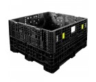 45 x 48 x 34 Collapsible Bulk Bin - Triple Diamond Plastics TDP-4845-34 OWS CP-S-45-C-34 Repose Top