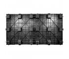 45 x 96 Nestable Solid Deck Plastic Pallet - PPC PPC4596N OWS PP-S-4596-N Standing Bottom HeadOn