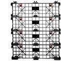 48 x 40 Nestable Light Duty Plastic Build-A-Pal Pallet - Fastlock FLP-02-003 OWS P-O-40-NFL Standing Bottom HeadOn 4