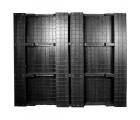 48 x 48 Stackable Solid-Deck Plastica Pallet - Black - PPC ppc4848-3 OWS PP-S-4848-RC Standing Bottom HeadOn