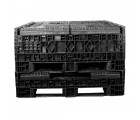 48 x 48 x 25 Plastic Collapsible Container - TDP 4845-25 - OWS CP-S-45-C-25 - HeadOn Stacked Folded