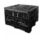 48 x 48 x 25 Plastic Collapsible Container - TDP 4845-25 - OWS CP-S-45-C-25 - Repose Folded
