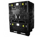 48 x 48 x 25 Plastic Collapsible Container - TDP 4845-25 - OWS CP-S-45-C-25 - Standing 3-4 Stacked