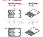 32 x 48 Nestable Euro Pal 3 Plastic Pallet w/ Lip - Black - OWS PP-O-32-N3 Plasgad 805 PLus DIPL89703 - Techincal Drawing