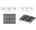 40 x 48 Neptune Nesable Medium Duty Plastic Pallet Plasgad PG4840 OWS PP-O-40-NM8 Technical Drawing