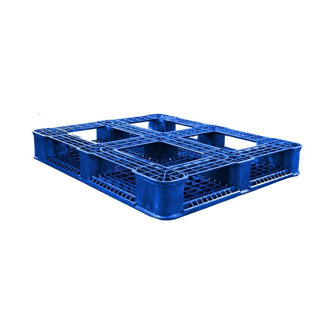 40 x 48 Rackable Plastic FDA Approved Solid Deck Plastic Pallet - Blue