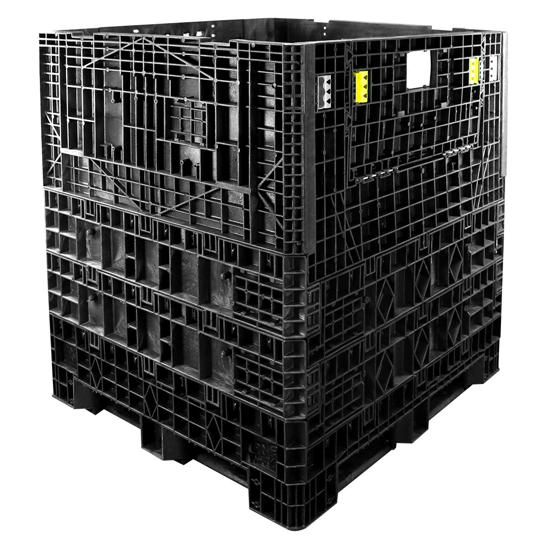 45 X 48 X 50 Collapsible Plastic Container Bin | One Way Solutions #  CP S 45 C 50