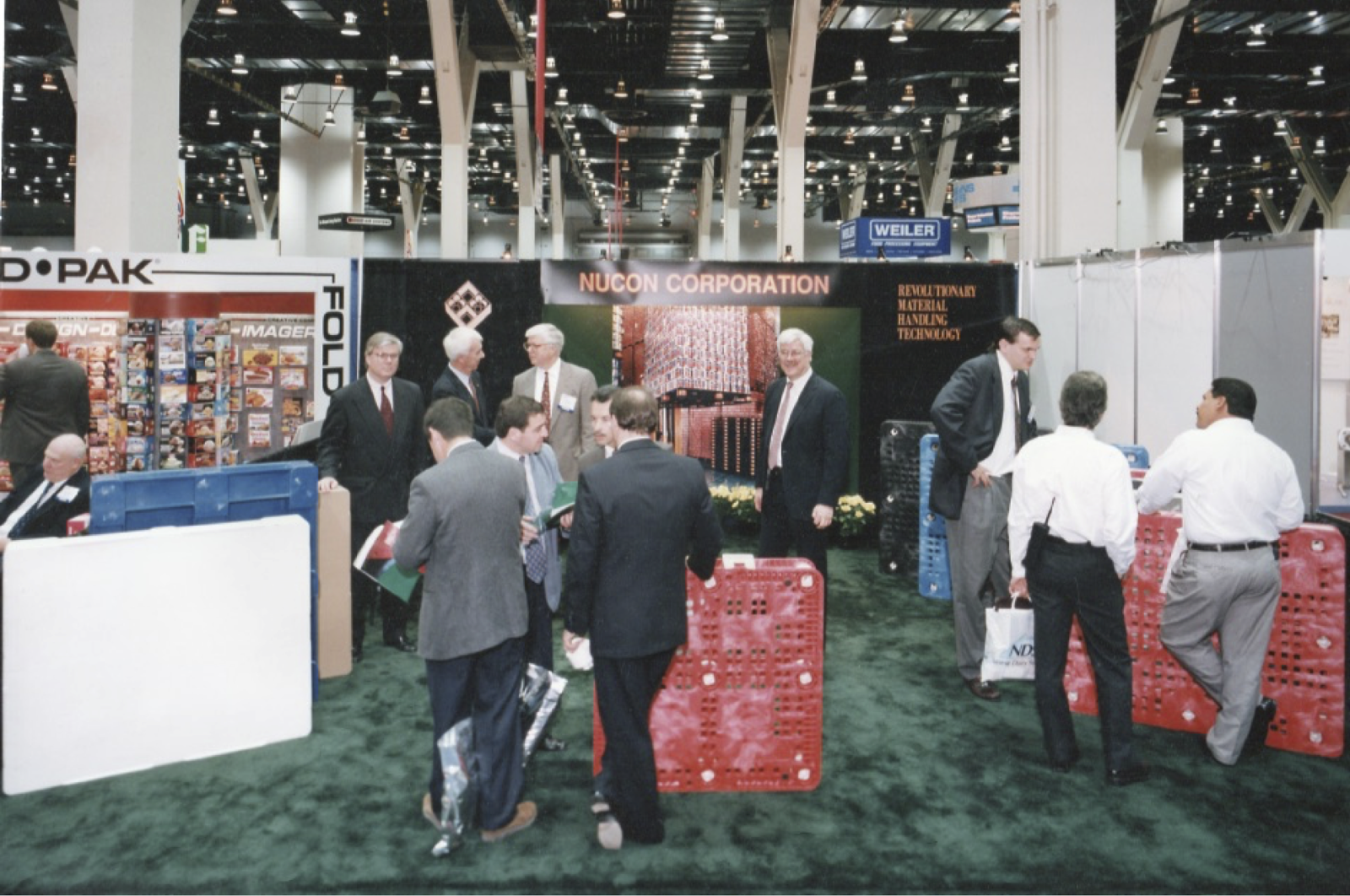 Left To Right: Brandon Pigott, Maurice Pigott, Peter Pigott, Sky Pigott, Mike Simon at  McCormick Place Chicago, IL 1998